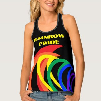 Colorful Rainbow Pride Abstract Pattern Tank Top