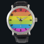 """Colorful Rainbow Pride Watch<br><div class=""""desc"""">Carry a rainbow with you every day,  because it&#39;s always time for rainbows.</div>"""