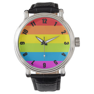Colorful Rainbow Pride Watch