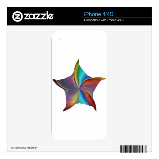 Colorful Rainbow Prism Swirling Star iPhone 4 Skin
