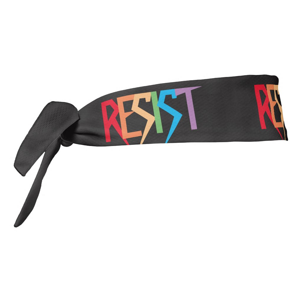 Colorful Rainbow Resist Tie Headband