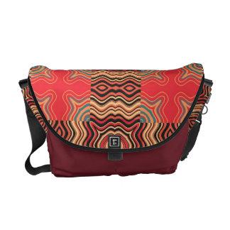 Colorful Rainbow Retro Seamless Pattern Messenger Bag