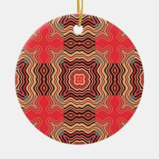Colorful Rainbow Retro Seamless Pattern Square Ceramic Ornament