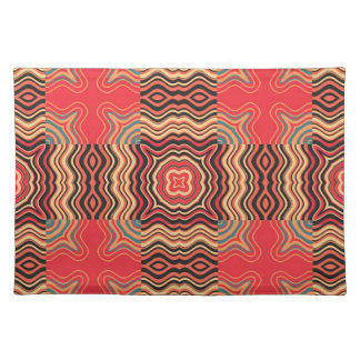 Colorful Rainbow Retro Seamless Pattern Square Cloth Place Mat