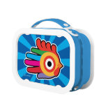 Hand shaped Colorful Rainbow Rooster Lunch Box