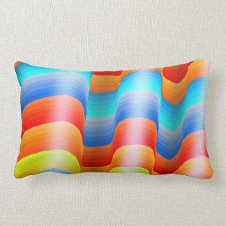 Colorful Rainbow Sarape Lumbar Pillow