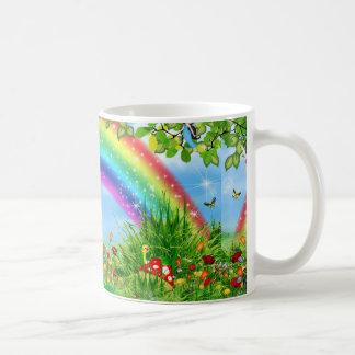 colorful rainbow science products coffee mug