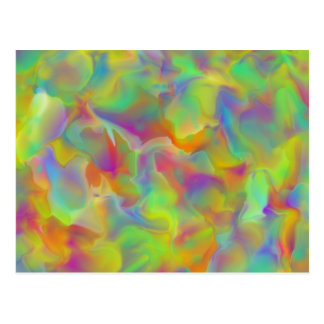 Colorful Rainbow Shale Scales Postcard