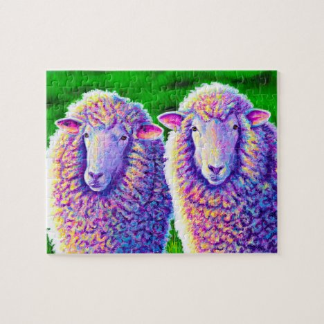 Colorful Rainbow Sheep Jigsaw Puzzle