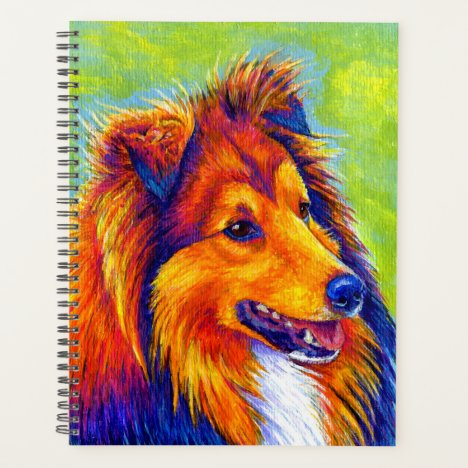 Colorful Rainbow Sheltie Dog Planner