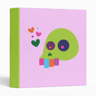 Colorful Rainbow Skull Binder