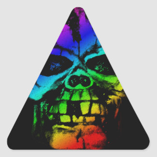 Colorful Rainbow Skull Triangle Sticker