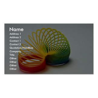 Colorful Rainbow slinky toy for kids Double-Sided Standard Business Cards (Pack Of 100)