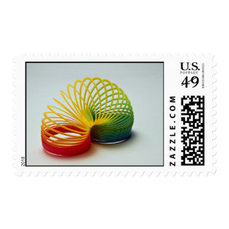 Colorful Rainbow slinky toy for kids Stamp