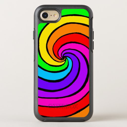 Colorful Rainbow Spiral OtterBox Symmetry iPhone 8/7 Case