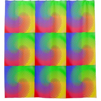Colorful Rainbow Spiral Shower Curtain