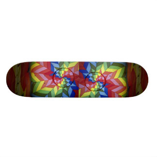 Colorful Rainbow star Skate Boards