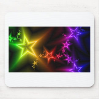 Colorful Rainbow Stars Mouse Pad