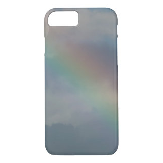 Colorful Rainbow stripe in the sky iPhone 7 Case