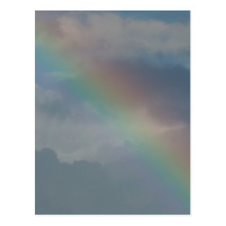 Colorful Rainbow stripe in the sky Postcard