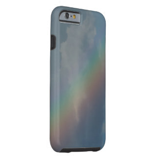 Colorful Rainbow stripe in the sky Tough iPhone 6 Case