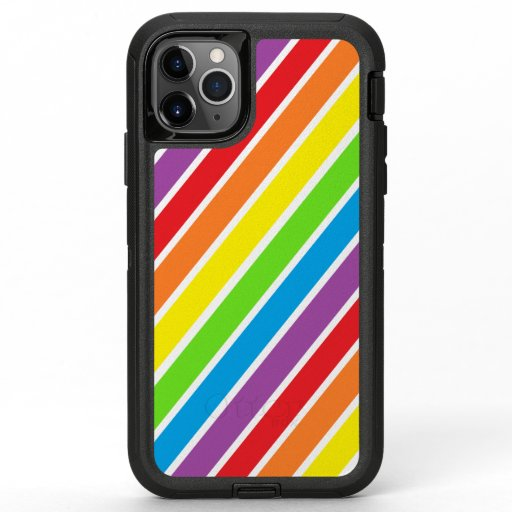 Colorful Rainbow Striped OtterBox Defender iPhone 11 Pro Max Case