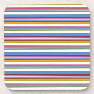 Colorful Rainbow Stripes Coasters