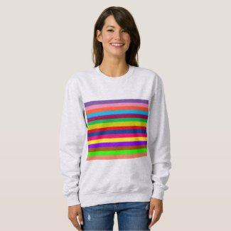 Colorful Rainbow Stripes Fun Sweatshirt