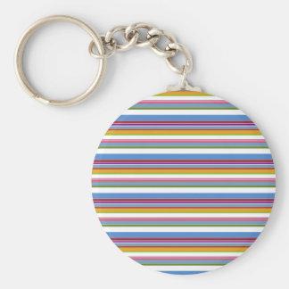 Colorful Rainbow Stripes Keychains