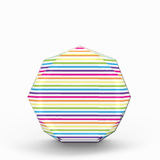 Colorful Rainbow Stripes Pattern Gifts for Teens Acrylic Award