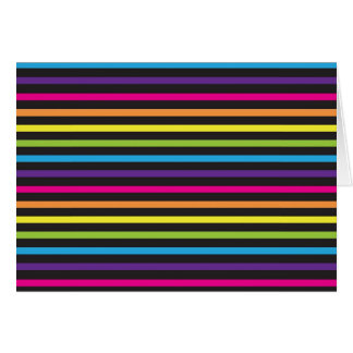 Colorful Rainbow Stripes Pattern Gifts for Teens Card