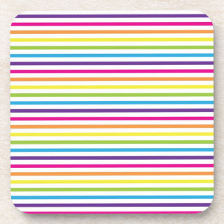 Colorful Rainbow Stripes Pattern Gifts for Teens Drink Coaster