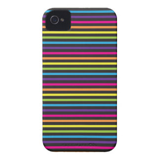 Colorful Rainbow Stripes Pattern Gifts for Teens iPhone 4 Cover