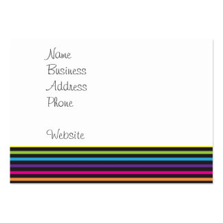 Colorful Rainbow Stripes Pattern Gifts for Teens Large Business Card