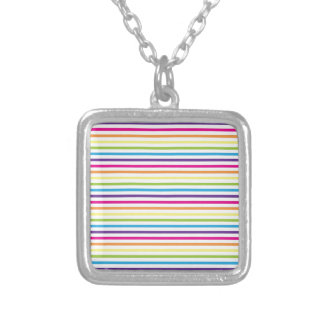Colorful Rainbow Stripes Pattern Gifts for Teens Necklace