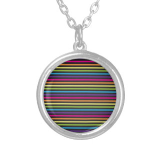 Colorful Rainbow Stripes Pattern Gifts for Teens Necklaces