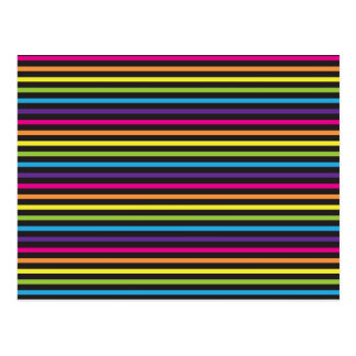 Colorful Rainbow Stripes Pattern Gifts for Teens Postcard