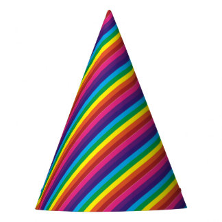 Colorful Rainbow Stripes Pattern Party Supplies Party Hat