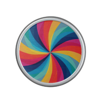 Colorful Rainbow Swirl Bluetooth Speaker