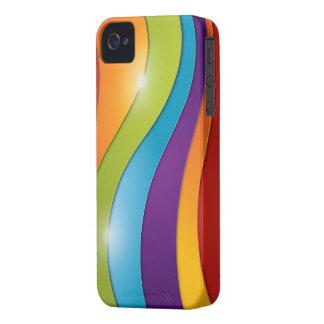 Colorful Rainbow Swirl Design iPhone 4/4s case