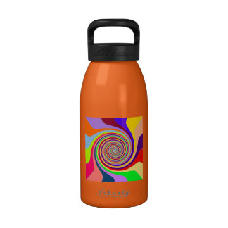 Colorful Rainbow Swirl Reusable Water Bottles