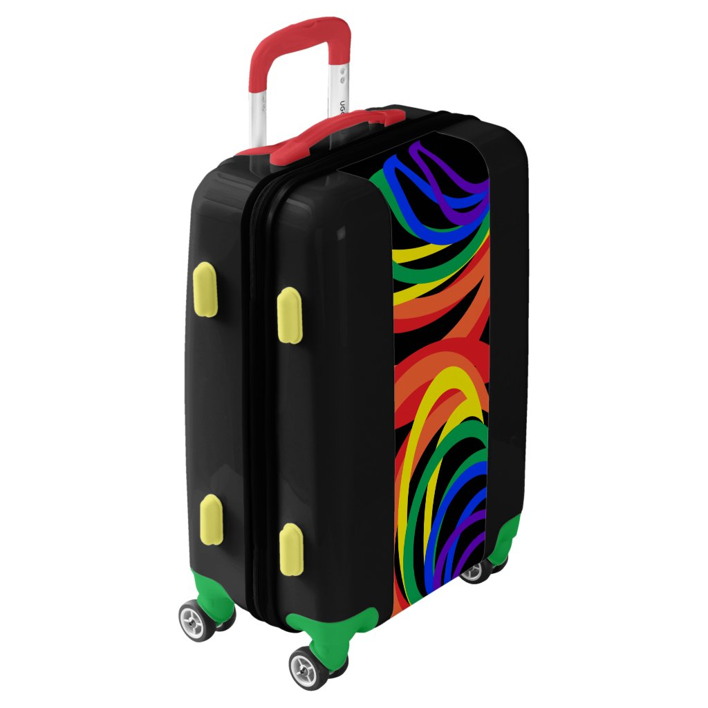 Colorful Rainbow Swirls Luggage