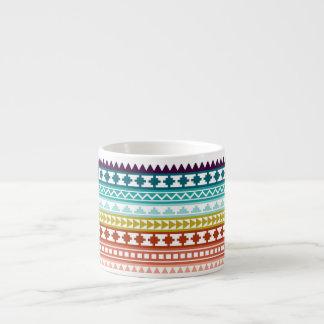 Colorful Rainbow Tribal Aztec Pattern 6 Oz Ceramic Espresso Cup