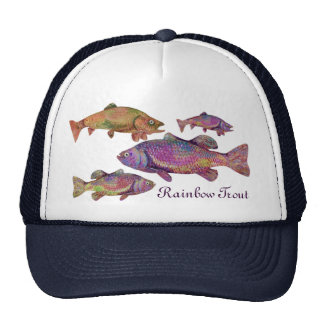 COLORFUL RAINBOW TROUT MESH HATS
