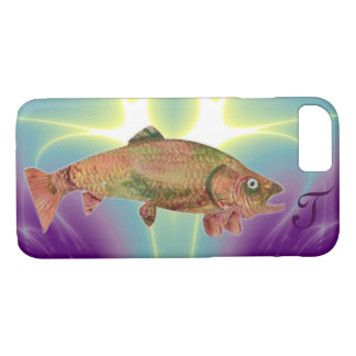 COLORFUL RAINBOW TROUT Monogram iPhone 8/7 Case