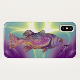 COLORFUL RAINBOW TROUT Monogram iPhone X Case