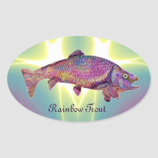 COLORFUL RAINBOW TROUT STICKERS