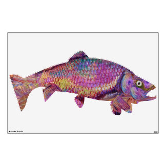 COLORFUL RAINBOW TROUT WALL DECAL