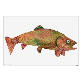 COLORFUL RAINBOW TROUT WALL STICKER