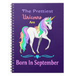 Colorful Rainbow Unicorn and Stars Notebook